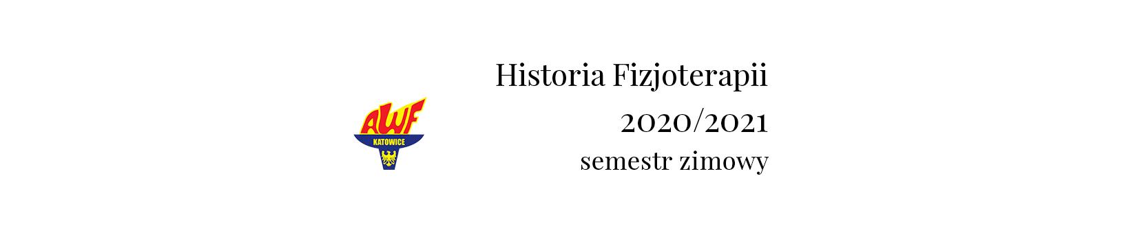 Course Image Historia Fizjoterapii 2020 - F-his-fizjo-mgr - Wykłady Semestr zimowy